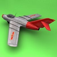 Mig-15 China 3D Model
