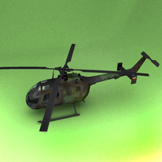 BO-105 3D Model