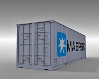 4 Container Collection 3D Model