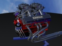 Racing Engine 3D Model
