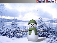 Snow Man 2 3D Model