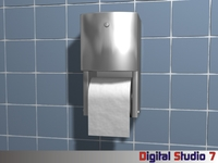 Toilet Paper Dispenser 3D Model