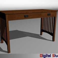 Mission Style Desk 3D Model