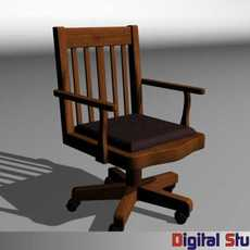 Mission Style Chair 3D Model