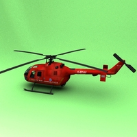 BO-105 Air Ambulance 3D Model