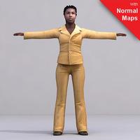 aXYZ design - CWom0024-FBX / FBX Rigged Models for Motionbuilder 7.0 FBX 3D Model