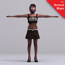 aXYZ design - CWom0025-FBX / FBX Rigged Models for Motionbuilder 7.0 FBX 3D Model