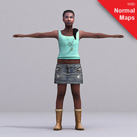 aXYZ design - CWom0026-FBX / FBX Rigged Models for Motionbuilder 7.0 FBX 3D Model