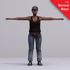 aXYZ design - CWom0027-FBX / FBX Rigged Models for Motionbuilder 7.0 FBX 3D Model