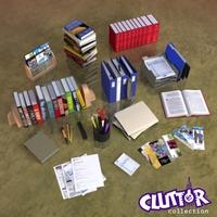 Clutter-Book Store 001 3D Model