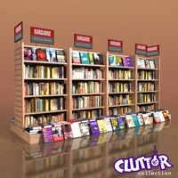 Furniture-Bookcase - Bargain 001 3D Model