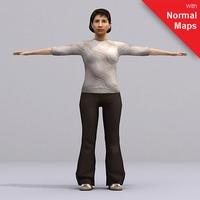 aXYZ design - AWom0005-FBX / FBX Rigged Models for Motionbuilder 7.0 FBX 3D Model