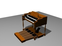 Hammond B3 Organ 3D Model