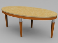 Oval SIde Table 3D Model