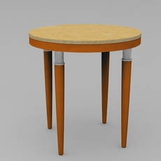 Custom Round Side Table 3D Model