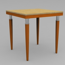 Custom Square Side Table 3D Model