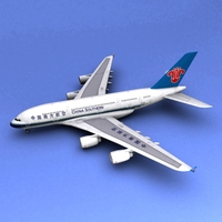 A-380 China Southern 3D Model