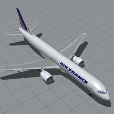 B-757-200-France 3D Model