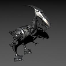 Robot raptor 3D Model