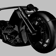Heavy street motorcycle X12 3D Model