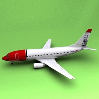 Boeing 737 Norwegian Air Shuttle 3D Model