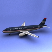 A-319 US Airways 3D Model