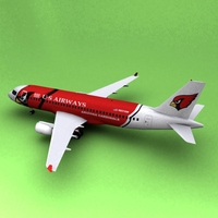 Airbus A-319 US Airways 3D Model