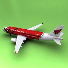 Airbus A-319 US Airways 3D Model