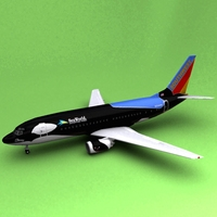 Boeing 737 Southwest Airliners 3D Model