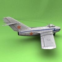 MiG-15`Romania 3D Model