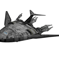 Babylon-5 EA_shuttle 3D Model
