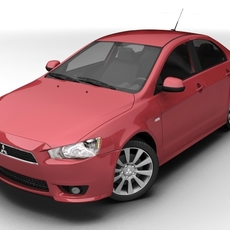 2008 Mitsubishi Lancer 3D Model