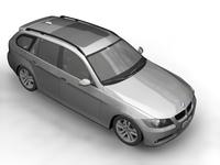 BMW 3 Series Touring (E91) 3D Model