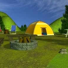 Campsite 3D Model