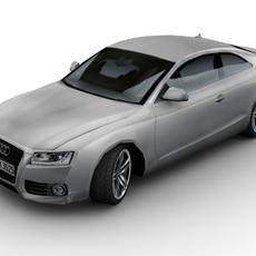2008 Audi A5 (Low Poly) 3D Model