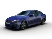 2007 Lexus IS-F (Low Poly) 3D Model