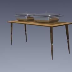 Table-pans 3D Model