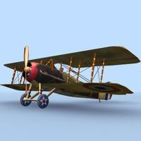 SPAD XIII WWI Bi-Plane 3D Model