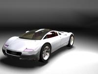 AUDI modern sport car 3D Model
