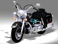 Custom Classic Bike 3D Model