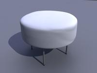 Circular pouf 3D Model