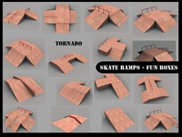 Skate ramps- fun boxes 3D Model