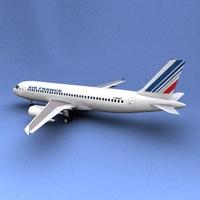 Airbus 320 Air France 3D Model