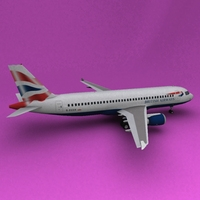 Airbus 320 British Airways 3D Model
