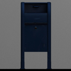US Mailbox 3D Model