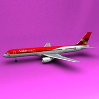 Boeing 757 Avianca 3D Model