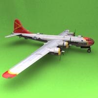 B-29 OLE MISS 3D Model