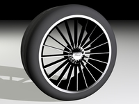 "Free ZC01 20-spoke 18"" with 245/30R18 Tyre 3D Model"
