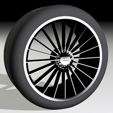 "ZC01 20-spoke 18"" with 245/30R18 Tyre 3D Model"