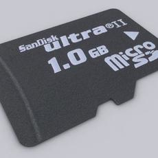 Sandisk Micro SD Card 3D Model
